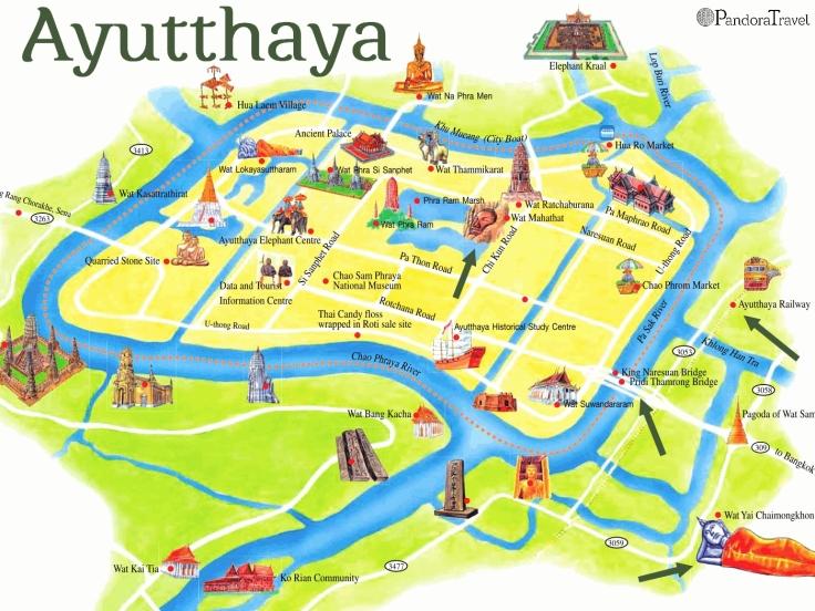 Carte Ayutthaya