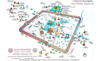 Sukhothai_Historical_Park_Province_Sukhothai_Thailand_Map_Karta-Thai